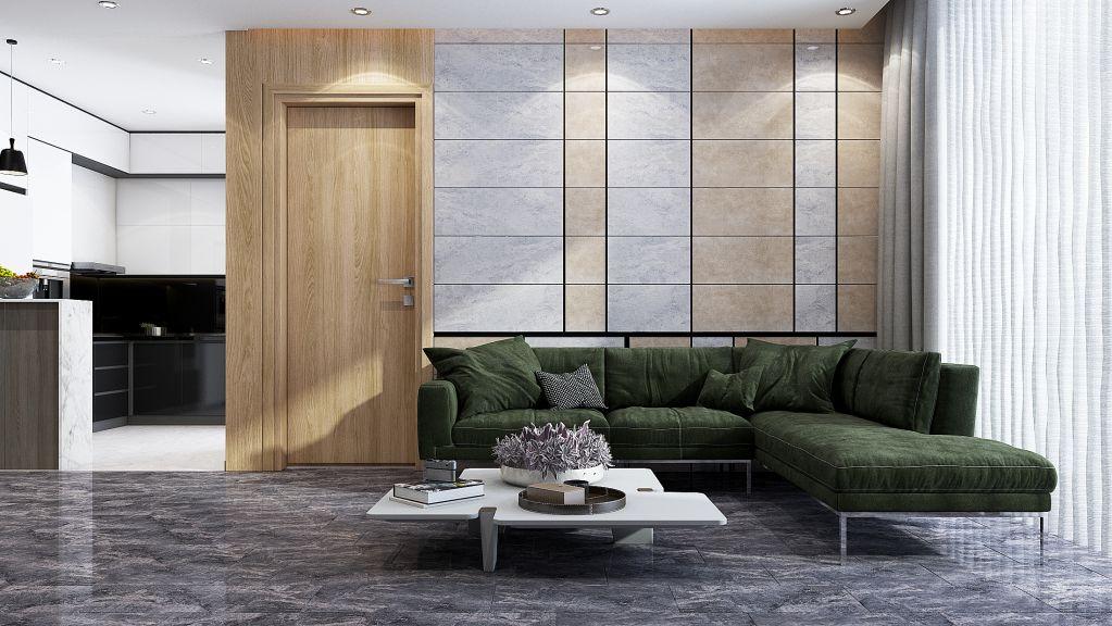 Chọn gạch lát nền phòng khách theo màu sắc và họa tiết