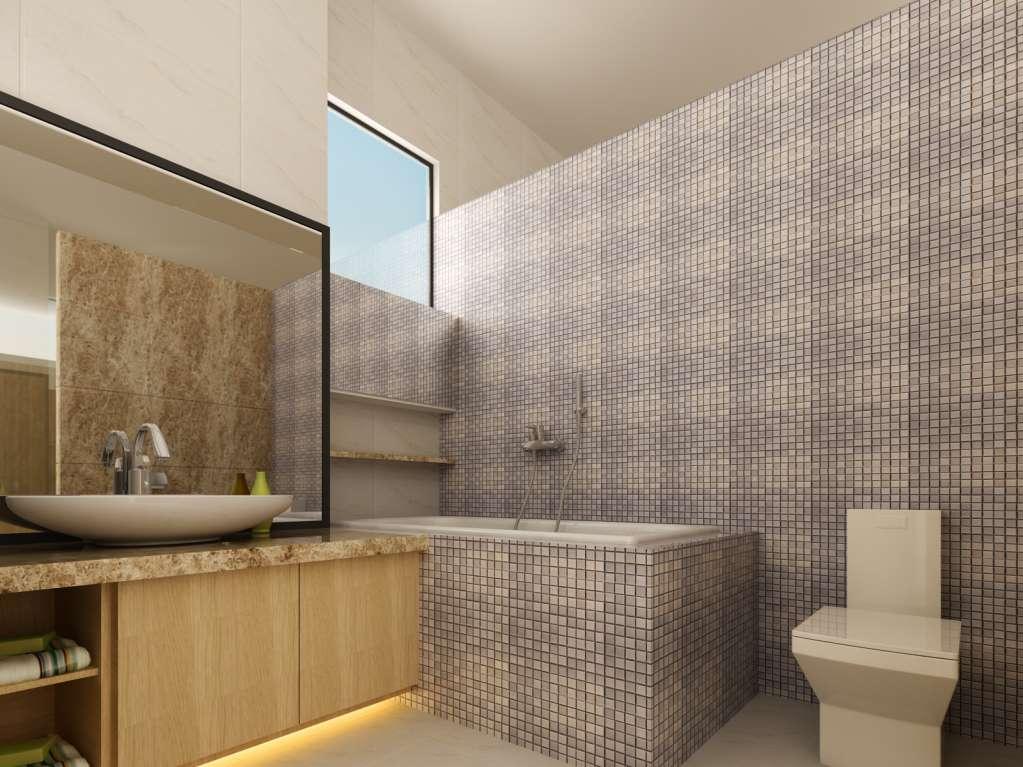 Chọn gạch lát phòng tắm kích thước vừa phải