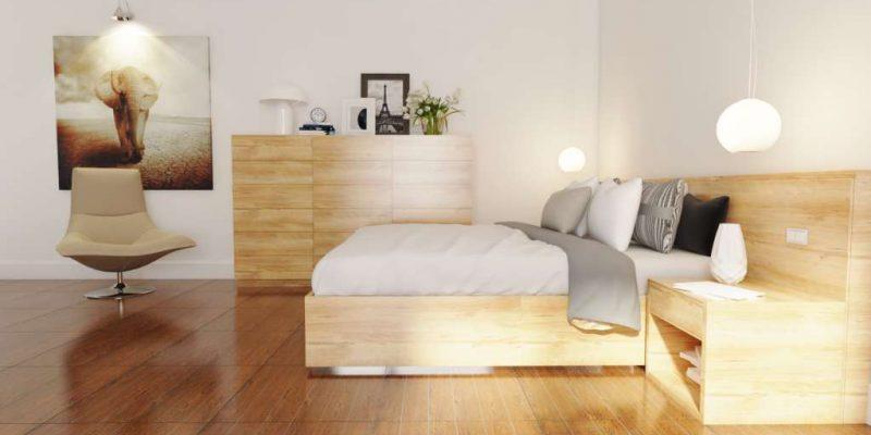 Gạch lát nền cho phòng ngủ ấm áp