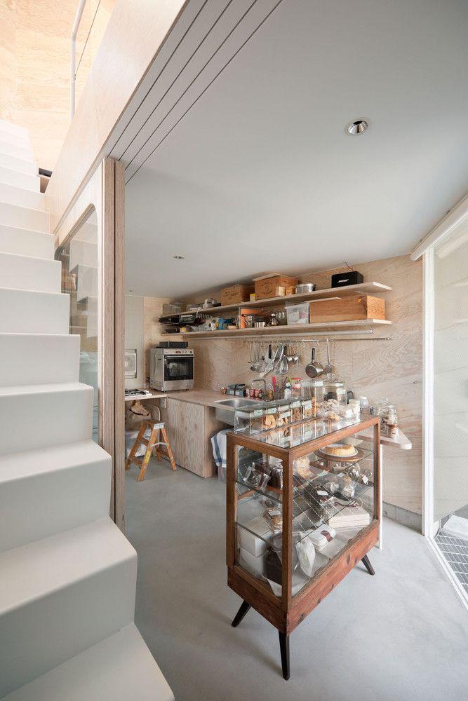 Ngôi nhà là một cửa hàng bánh qui ở tầng một