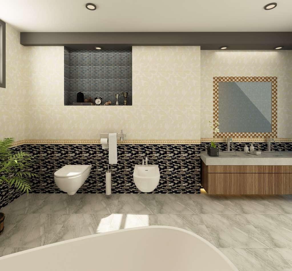 Gạch ốp phòng tắm đa dạng kích thước và hoa văn