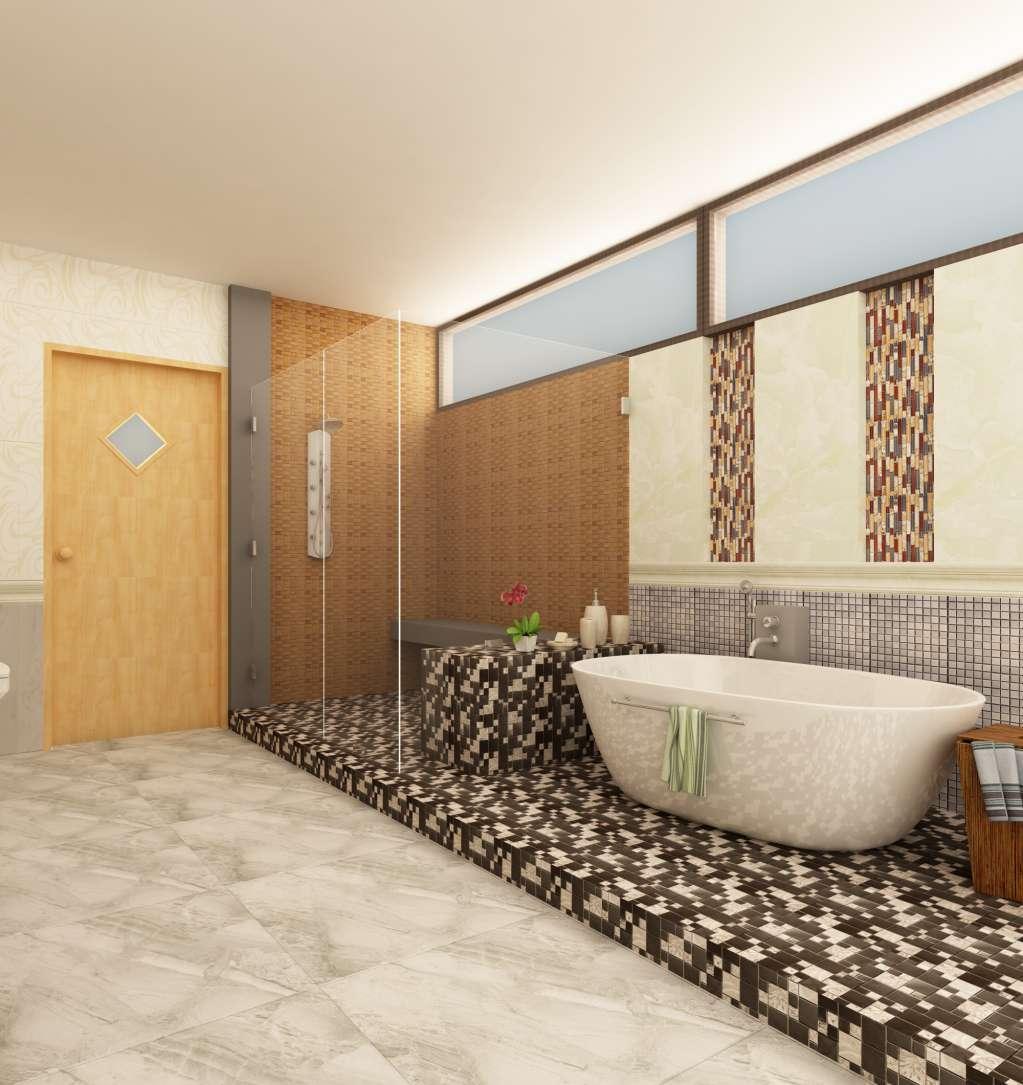Gạch ốp tường phòng tắm mang lại thẩm mỹ và an toàn