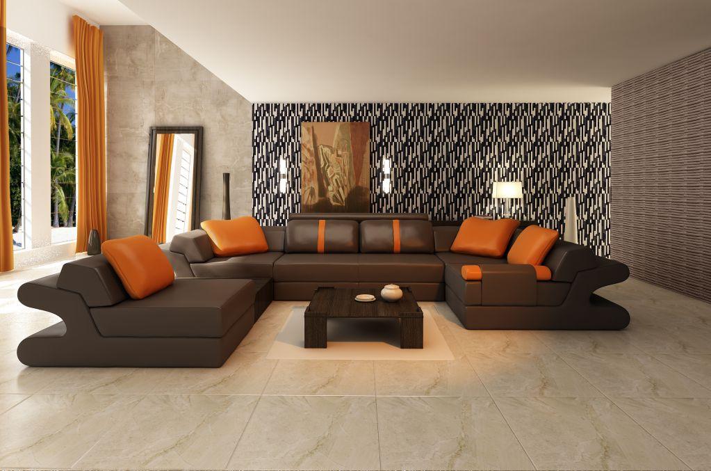 Chọn gạch ốp tường cho phòng khách phù hợp