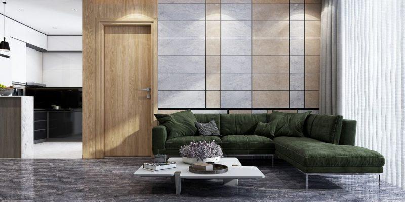 Chọn gạch ốp tường phòng khách dễ dàng vệ sinh