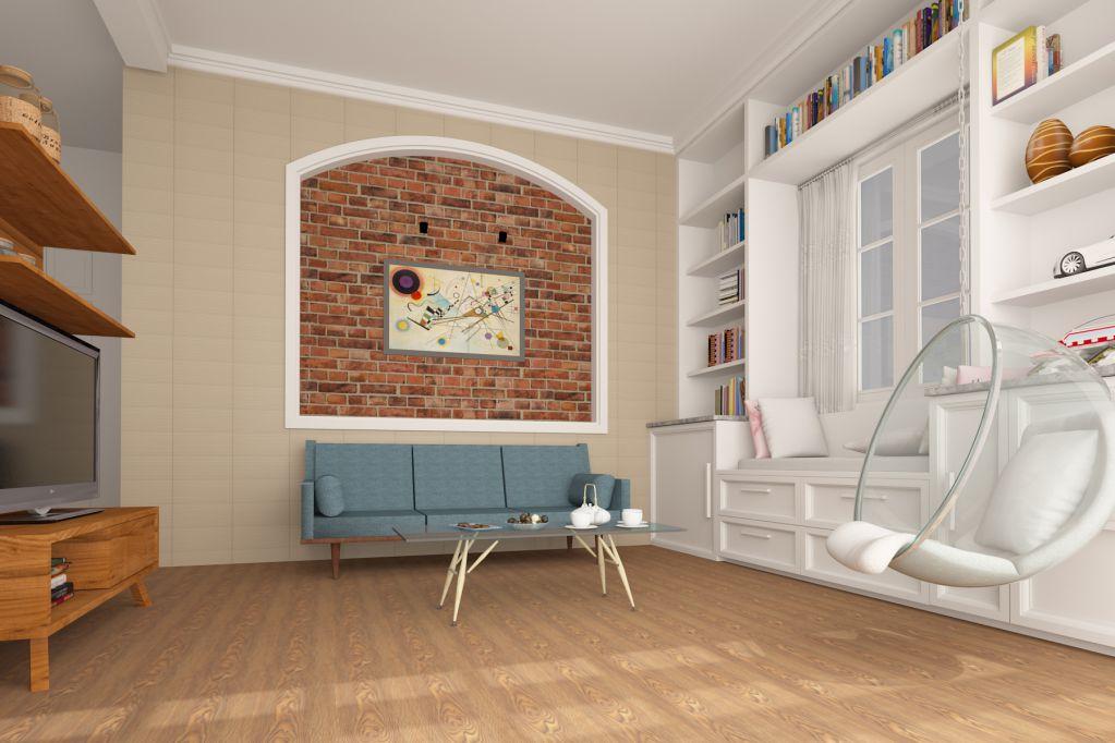 Có nên ốp gạch chân tường phòng ngủ phòng khách hay không