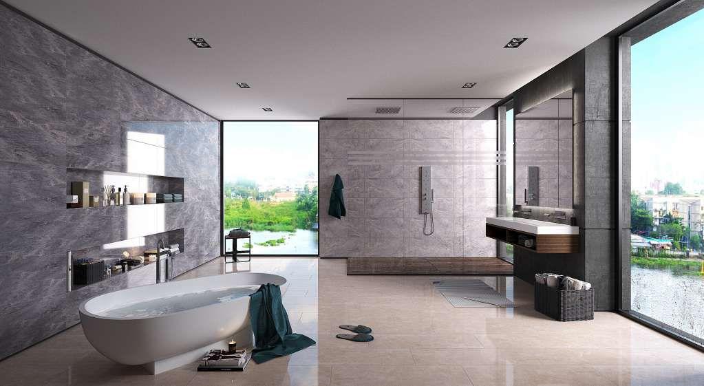 Gạch lát sàn nhà tắm, nhà vệ sinh và cầu thang đẹp tinh tế